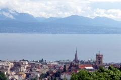 Der Genfer See. Das kleinste, aber anstrengendste der drei Länder liegt hinter mir.