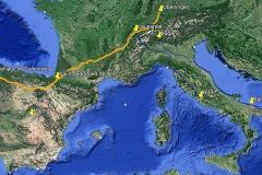 2008: Überlingen - Santiago (Fisterra), die längste Pilgerreise, über 2.400 Kilometer.