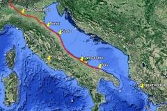 1.100 Kilometer zu Fuß durch Italien.