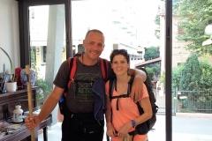 Anita & unser noch unsichtbares Baby begleiteten mich ab Rimini für zwei Wochen.