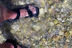 Willkommene Abkühlung für meine Füße.