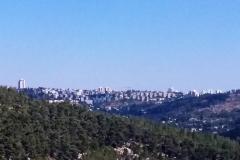 Der allererste Blick auf die heilige Stadt.