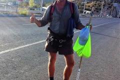 Fertig aber stolz, nach der längsten Etappe meiner drei Pilgerreisen (42 km).