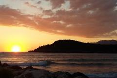 In Griechenland hatte die Sonne Abends ihren großen Auftritt.