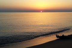 In Italien hatte die Sonne Morgens ihre große Bühne.