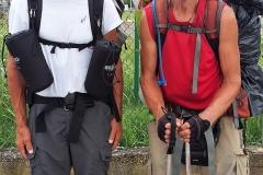 Jan & Piet, die einzigen Pilger, denen ich begegnete waren leider nach Rom unterwegs.